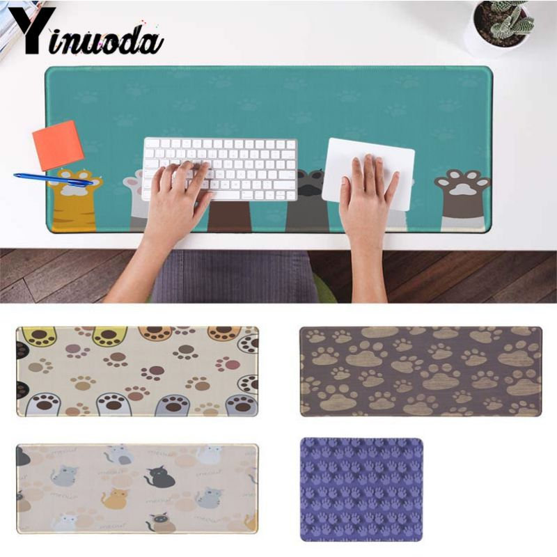 Yinuoda Cute Cats paw pattern Silicone large/small Pad to Mouse Game Computer Gaming Mouse Pad Gamer Play Mats Version Mousepad