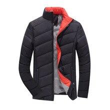 Männer Winterjacke Parka 2016 Heißer Verkauf Daunenjacke Männer Dünne Fit Mode Dicke Warme Männliche Jacken Mäntel Solide Baumwolle Jungen Jacke