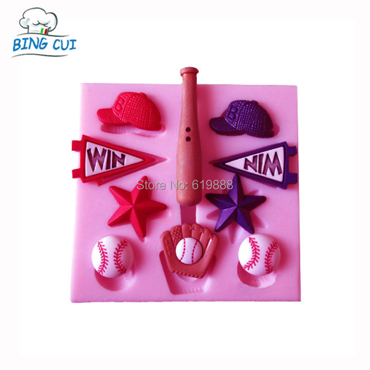 baseball cap mold for washing font glove bat five pointed star hat cake chocolate