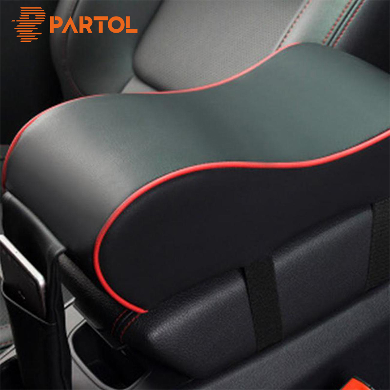 Partol PU Leather Car Armrest Pad Universal Auto Armrests Car Center Console Arm Rest Seat Box Cotton Car Interior Decoration leather car interior parts center console armrest box for nissan kicks 2016 2017 2018 auto armrests storage with usb