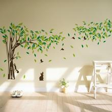 Large 215 * 395 cm big green tree vinyl wall stickers home decor poster
