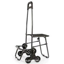 Składany wózek sklepowy na zewnątrz Dolly z rolowanymi kołami  lekki wózek do prania spożywczego wózek ogólnego przeznaczenia  wspinaczka schodowa z kołami