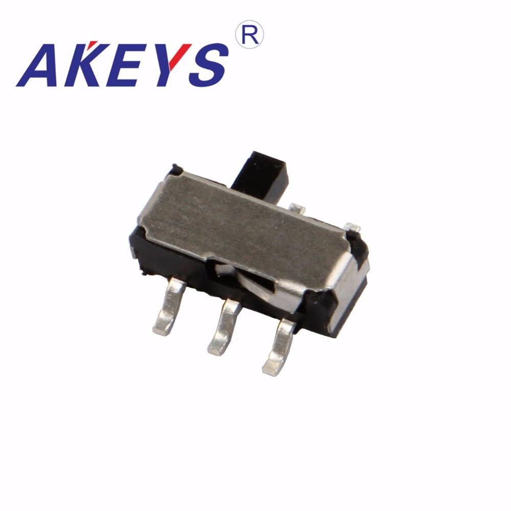 Lighting Accessories 30pcs Msk-22d14 Mini Slide Switch 2p2t Dpdt Smd Smt 6 Pin Side Slide Mini Toggle Switches With Fixed Pin