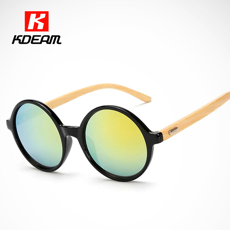 Entzückende Shades Runde Holz Sonnenbrille Für Frauen Steampunk ...