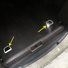 2 шт. АБС хромированные автомобильные аксессуары интерьер задний багажник Кнопка рамка Накладка для Land Rover Range Rover Sport L494 2014-2018