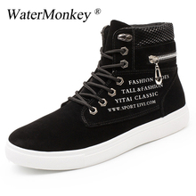 Big Size Shoes Spring Autumn Mens Skateboarding High Top Sneakers Men British Style Comfortable