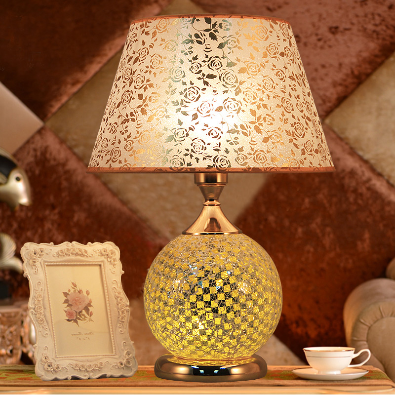Fashion bedroom bedside table lamp brief decoration glass table lamp E27 fashion bedroom bedside table lamp brief decoration glass table lamp e27