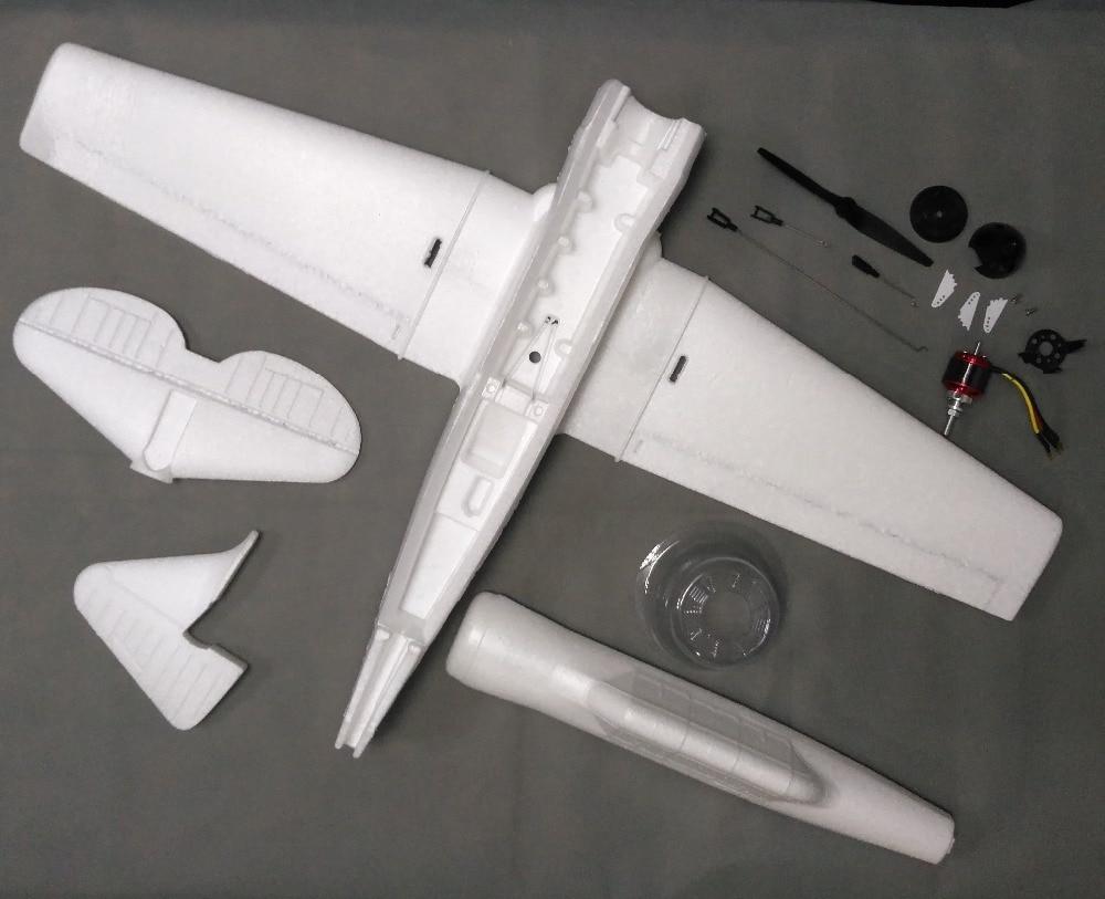 720mm At6 Rc Propeller Plane Epo Foam White Kit In Rc