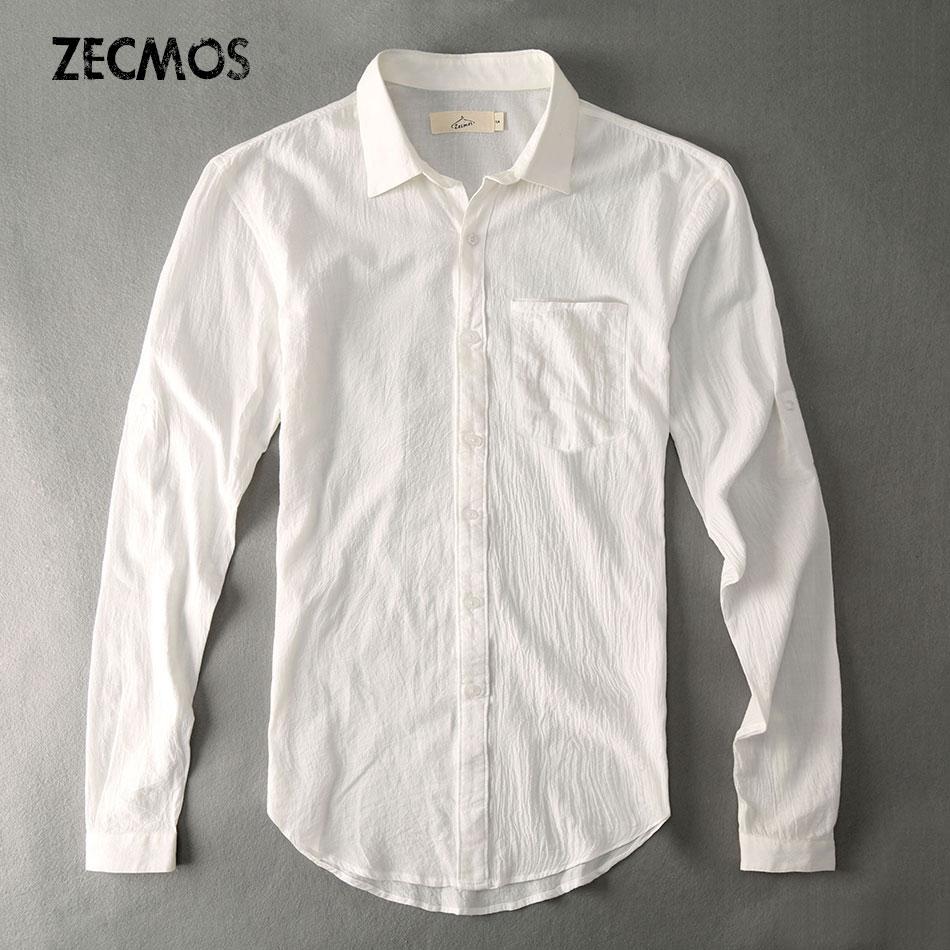 Plain casual shirt men slim fit social white shirt male for Mens slim white shirt