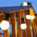 10 М Шар Свет Шнура с 20 Прозрачный/Млечный лампы, Connectable Винтаж Гирлянда мяч строка Свет, Рождество фея света для Патио