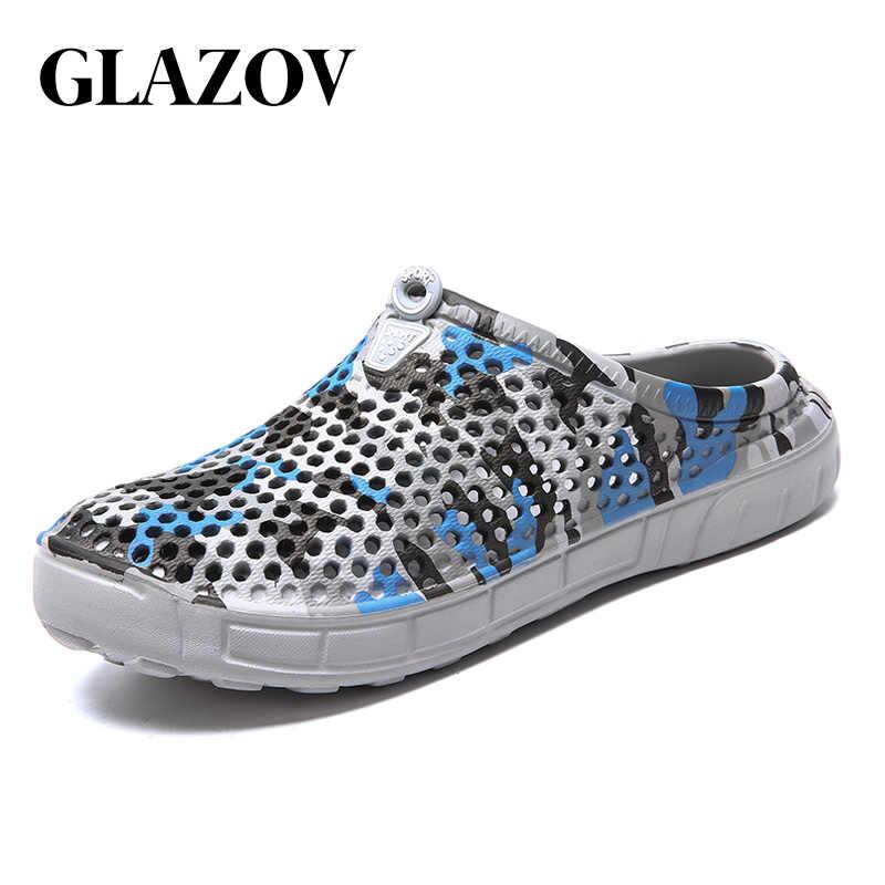f31b51d39f96 GLAZOV Brand EVA Men Summer Casual Clogs Sandals Garden Beach Shoes Jelly Shoes  Breathable Slip-