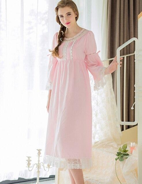 c4fc4928ff Las mujeres Ropa de Dormir Batas Vestido Casual Para Dama Cuello Redondo  ropa de Dormir de