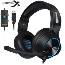 Xiberia Nubwo Brand N11 PC Gamer Headset USB 7.1 Channel Sound Bass Casque Computer Gaming Headphones with Microphones Led Light xiberia brand gaming headphones nubwo n2u wired usb headset gamer with microphone volume control led for computer laptop fone