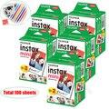 100/60 белые листы Подлинная Fuji Fujifilm Instax Mini 11 пленка для Mini 9 8 9 7s 7c 90 70 25 Share SP1 SP2 Liplay мгновенные камеры