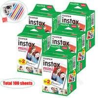 100/60 White Sheets Genuine Fuji Fujifilm Instax Mini 9 Film For Instax Mini 8 9 50s 7s 7c 90 25 Share SP-1 SP-2 Instant Cameras