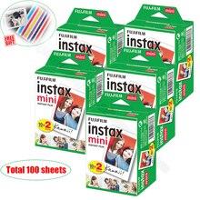 100/60 fogli bianchi pellicola Fuji Fujifilm Instax Mini 11 originale per Mini 9 8 9 7s 7c 90 70 25 condividi SP1 SP2 Liplay fotocamere istantanee