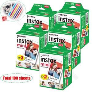 Image 1 - 100/60 weiß Blätter Echten Fuji Fujifilm Instax Mini 11 Film Für Mini 9 8 9 7s 7c 90 70 25 teilen SP1 SP2 Liplay Instant Kameras