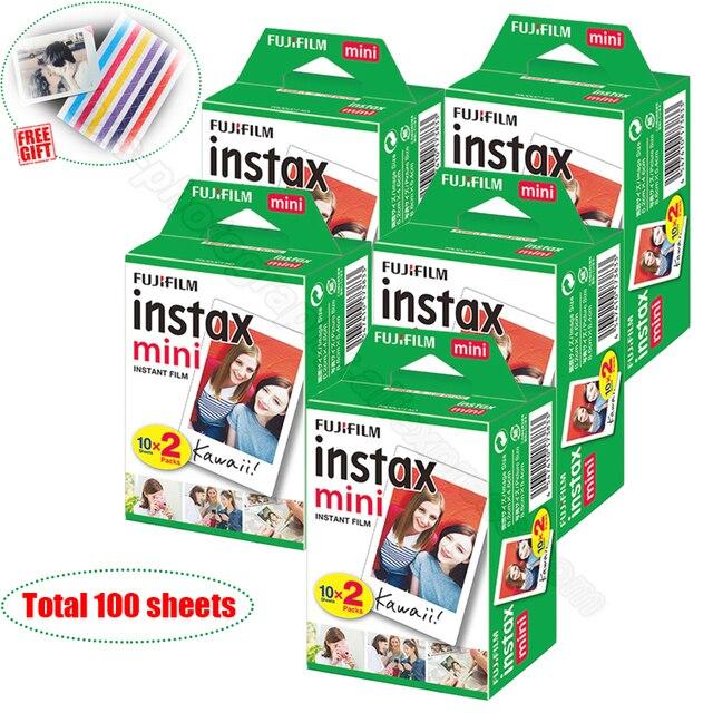 100/60 weiß Blätter Echten Fuji Fujifilm Instax Mini 11 Film Für Mini 9 8 9 7s 7c 90 70 25 teilen SP1 SP2 Liplay Instant Kameras