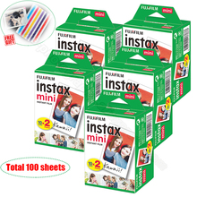 100 White Sheets Genuine Fuji Fujifilm Instax Mini 9 Film For Instax Mini 8 9 50s 7s 7c 90 25 Share SP-1 SP-2 Instant Cameras