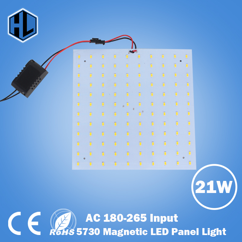 180-265V Square Quadrate  21W SMD5730 Magnetic LED Ceiling Light Bulb LED Panel Lamps  DIY replacement Accessories Ceiling Light 1195mm 145mm led panel light 21 8w dc24v input
