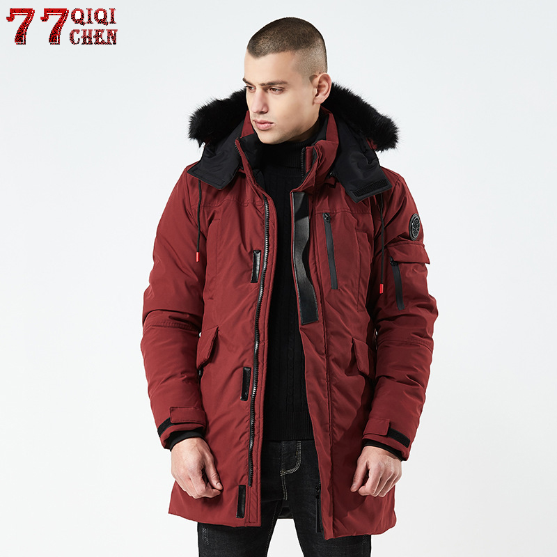 High-quality 2018 Thick Warm Winter Jacket Men Windproof Long Hooded   Parka   with Fur Collar Plus Size 3XL   parkas   hombre invierno