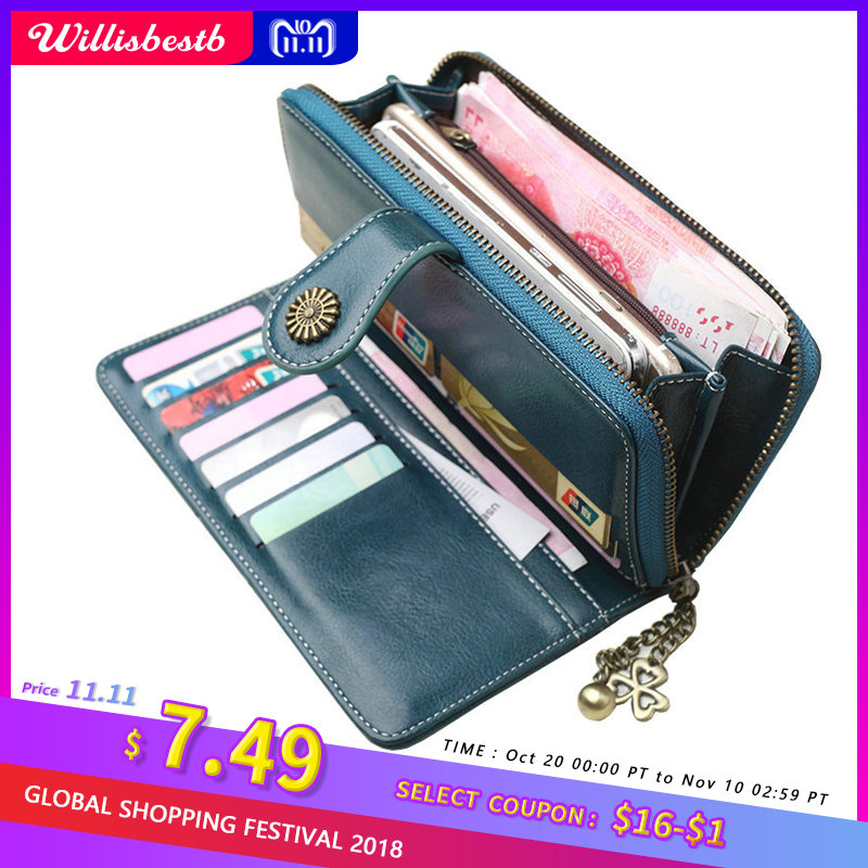 2018 New Vintage Button Phone Purses Women Wallets Female Purse Leather Brand Retro Ladies Long Zipper Woman Wallet Card Clutch yihua 1501a 15v 1a adjustable dc power supply mobile phone repair power test regulated power supply