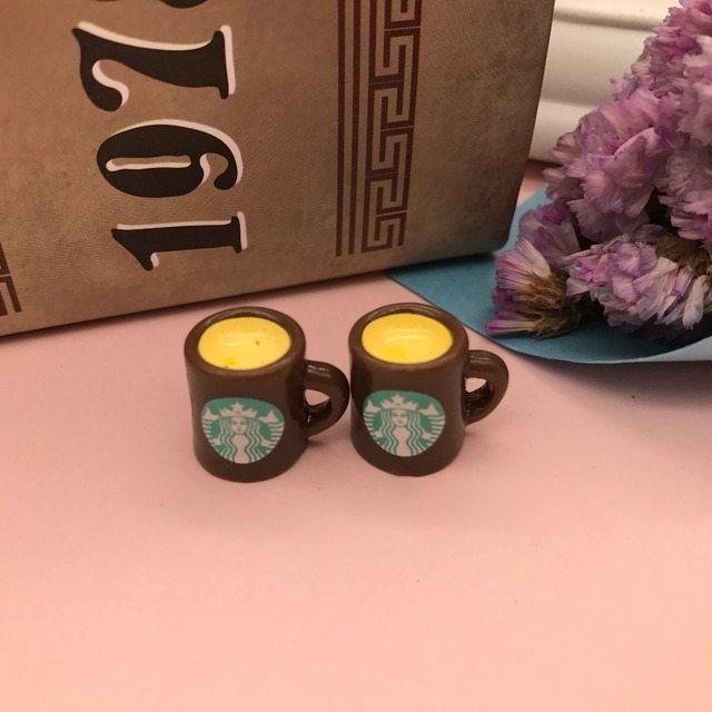 Free shipping!Resin Star coffee cup.Resin Flatback Cabochon for phone Dustproof plug decoration,DIY 12mm, 4