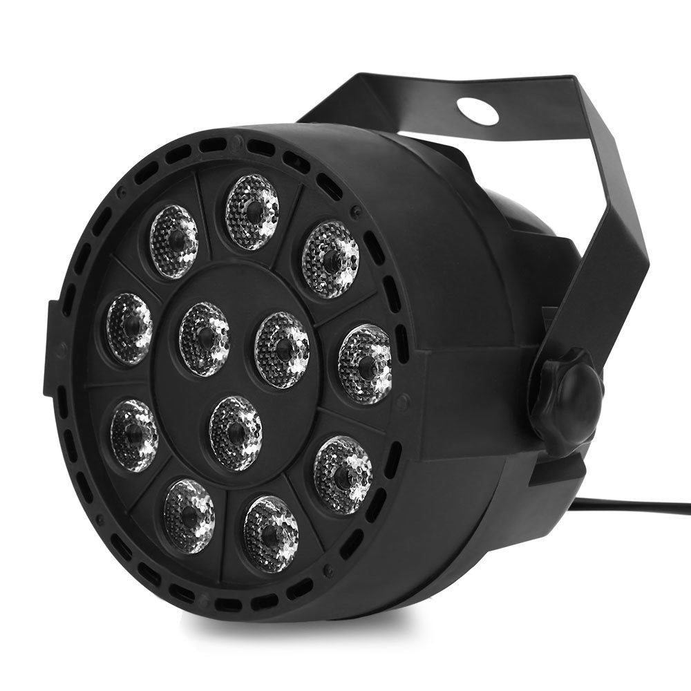 12 LEDs Voice-activated 12x3w RGBW DMX512 Control for Club Disco DJ KTV Ball Stage Light Lumiere Christmas Projector Hot Sale