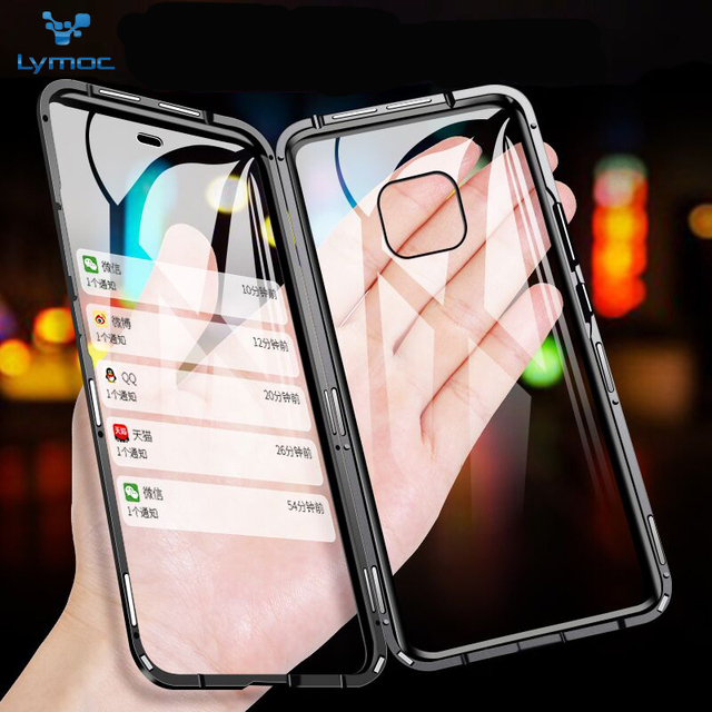 LYMOC New Case Metal Magnetic for Huawei P30 pro Shell Phone Cases for Mate20 pro 20X Lite Back Magneto Cases 2019 Y9 Plus Nove4