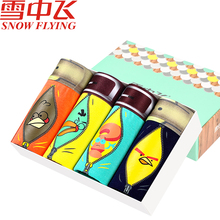 Fashion Men Boxer Underwear 4pieces Cotton Underpants Boxeur Cuecas Print Slip Homme De Marque Sexy Male Boxershorts Pull In Lot(China)