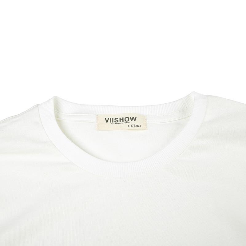 VIISHOW Hombre Camisetas de Manga Larga Hombre Moda Camisetas Hip Hop - Ropa de hombre - foto 3