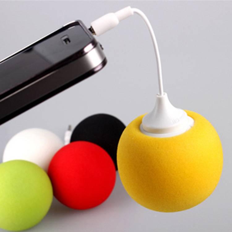 Itek Outdoors 3.5mm Mini Portable Wired Cute Colourful Sponge Ball <font><b>Speakers</b></font> for <font><b>Smart</b></font> Mobile <font><b>Phone</b></font> Tablet iPhone Samsung MP3 MP4