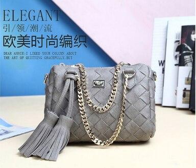 Handbags Women Messenger-Bags Tassel-Chain Shoulder Vintage Fashion 50pcs Pillow-Bag