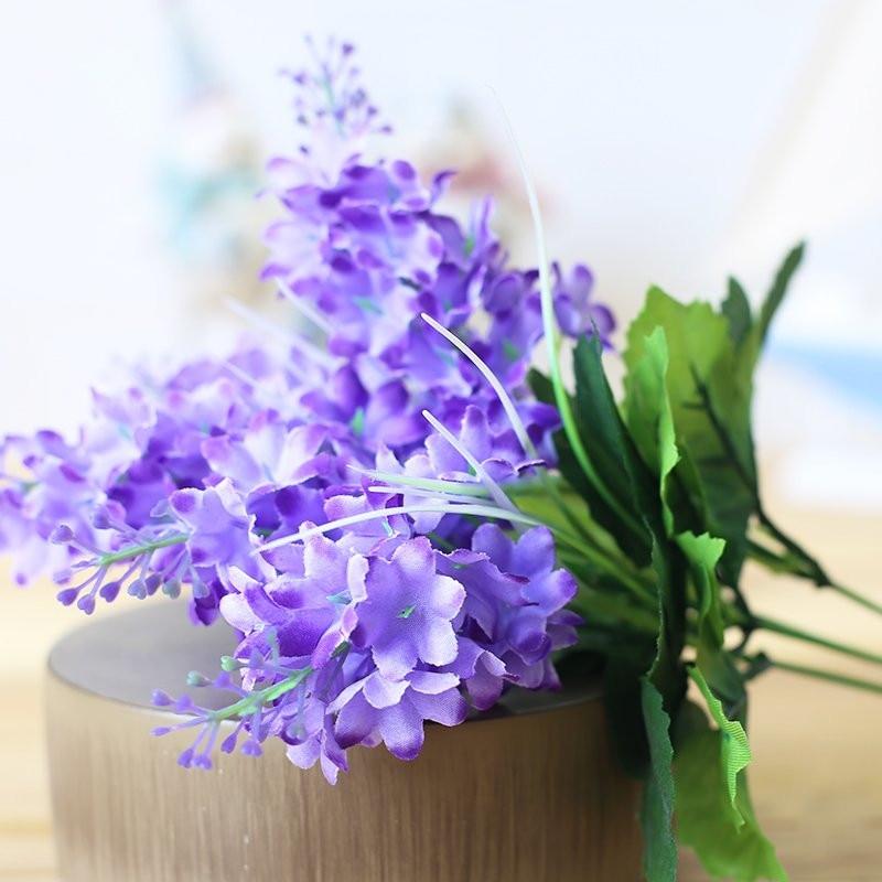 ộ_ộ ༽5Heads Silk Hyacinth Artificial Flowers Bouquet Large Lavender ...