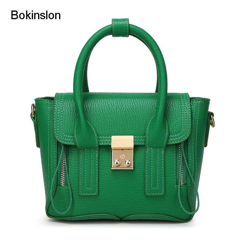 Bokinslon Woman Handbag Fashion Brand Popular Cow Split Leather Messenger Bags For Women Casual All-Match Bag Female 2017 fashion all match retro split leather women bag top grade small shoulder bags multilayer mini chain women messenger bags