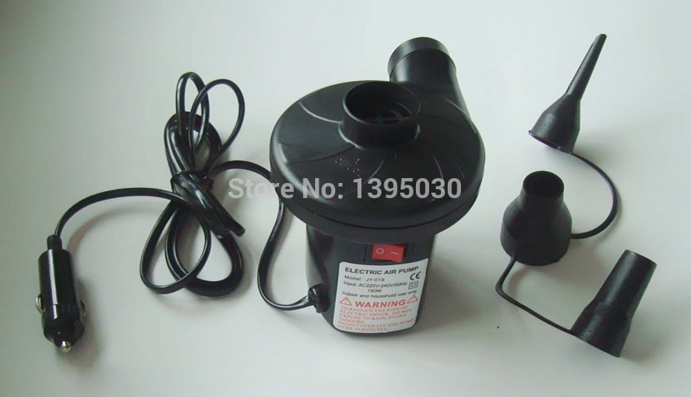 6pcs/Lot Cheap 12V DC Electric Air Pump For Airbed Car Boat Toy Inflator Deflator 15310