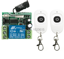 NEW DC12V 1CH 10A   Wireless Remote Control Switch System Receiver &2pcs one-button waterproof Remote 315mhz/433mhz