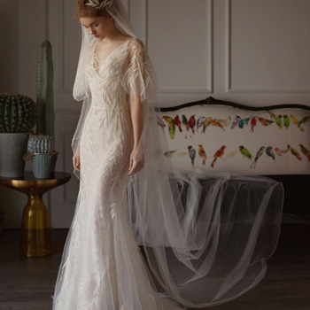Mermaid Wedding Dress 2019 New Spring Fashion Sexy V-neck Backless Half Sleeve Embroidery Lace on Net Bridal Dresses Wedding Dresses