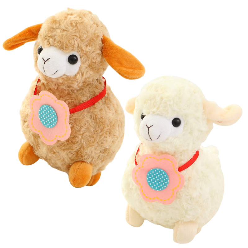 22cm Creative Alpaca Plush Toy Doll Cute Animal Sheep Lamb Birthday Gift Kids Girls Toy hot 17cm janpanese animal plush toy alpaca vicugna pacos lama arpakasso alpacasso soft stuffed plush doll toy christmas gift