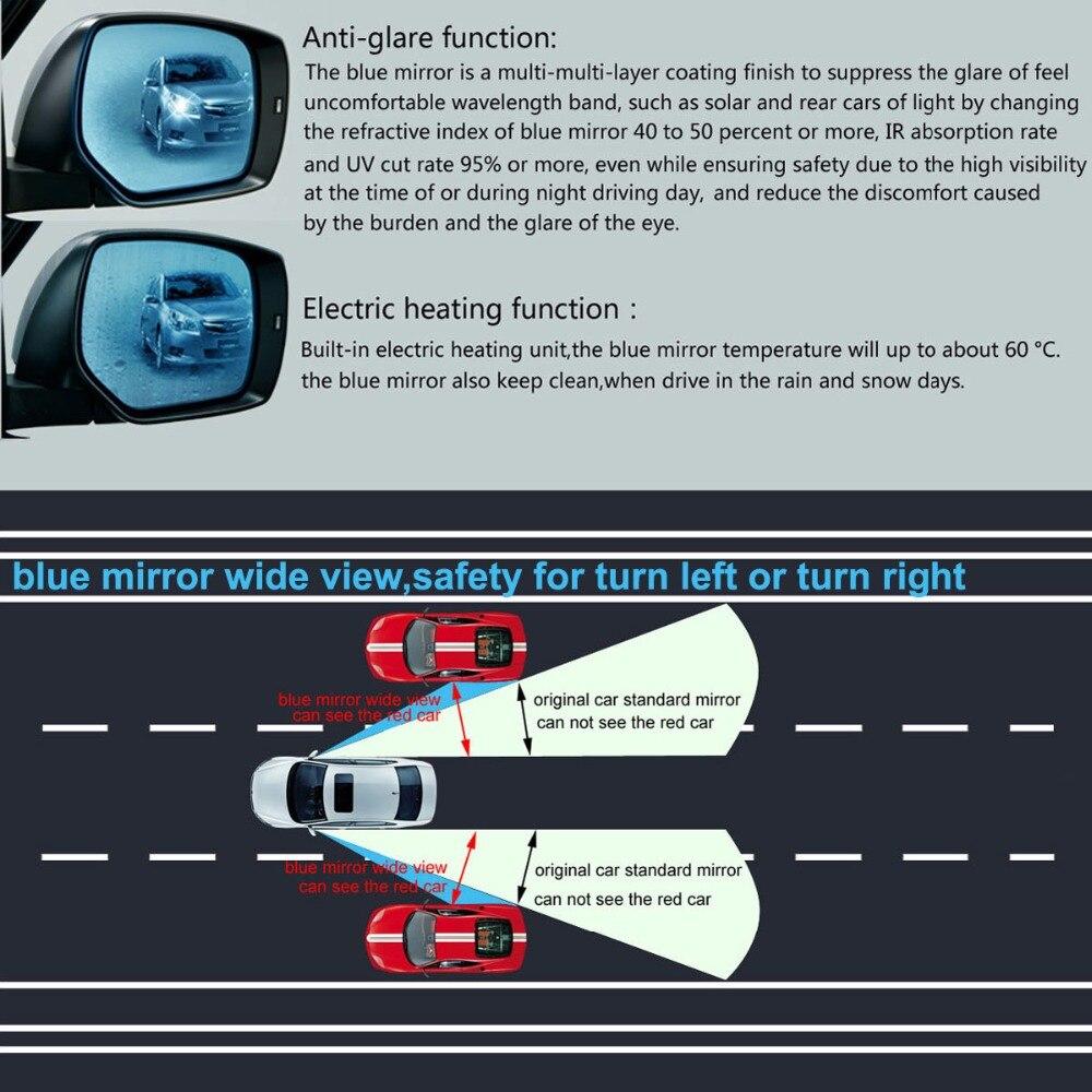 Droit Côté Conducteur Bleu Grand Angle Miroir De Verre Pour BMW Série 7 2002-2008 Chauffant
