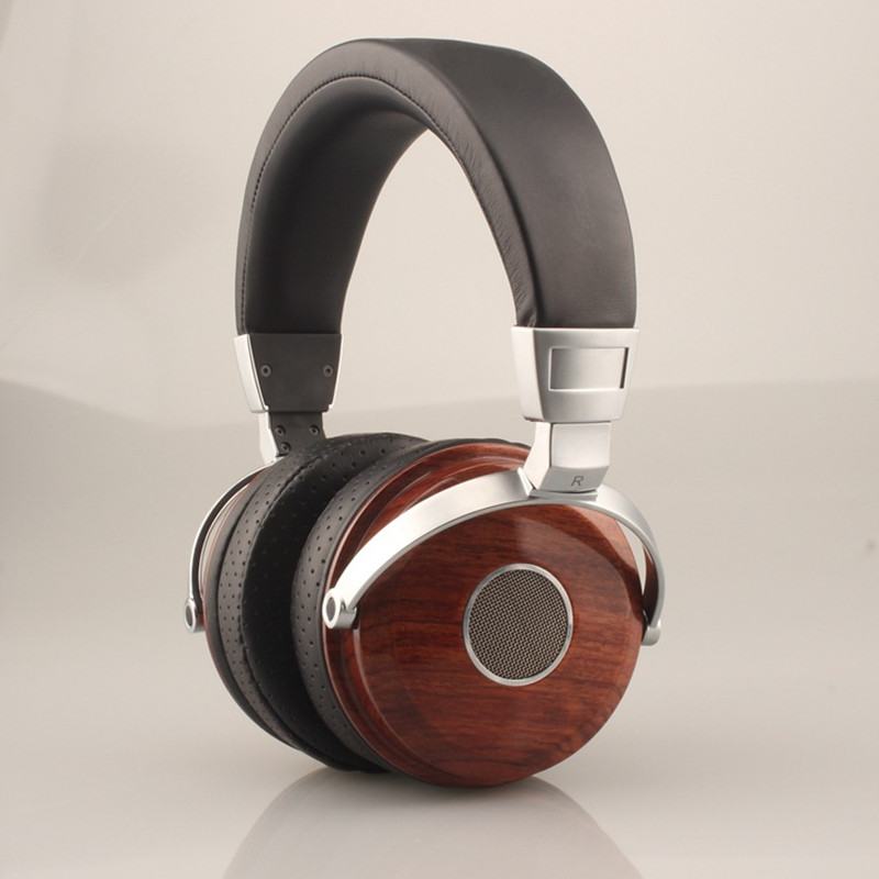 Original BLON B7 Wooden Headphones Headset DJ Metal Hifi Headphone Stereo Open Monitor Earphone With Beryllium Alloy Driver 2017 headphones stereo headset headphone brand new 3 5mm earphone with volume