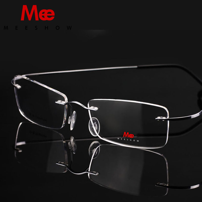 2019 Նոր բարձրորակ Meeshow Rimless Glasses Beta Titanium 100% մաքուր Titanium Ակնոցներ Myopia Optical Frame 8505