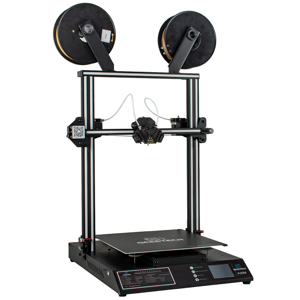 GEEETECH A30M OPen Source 2 In 1 Mixed  3D Printer 320*320*410mm Area 60mm/s. Password Protected, Touch Screen, Double Z-axis,