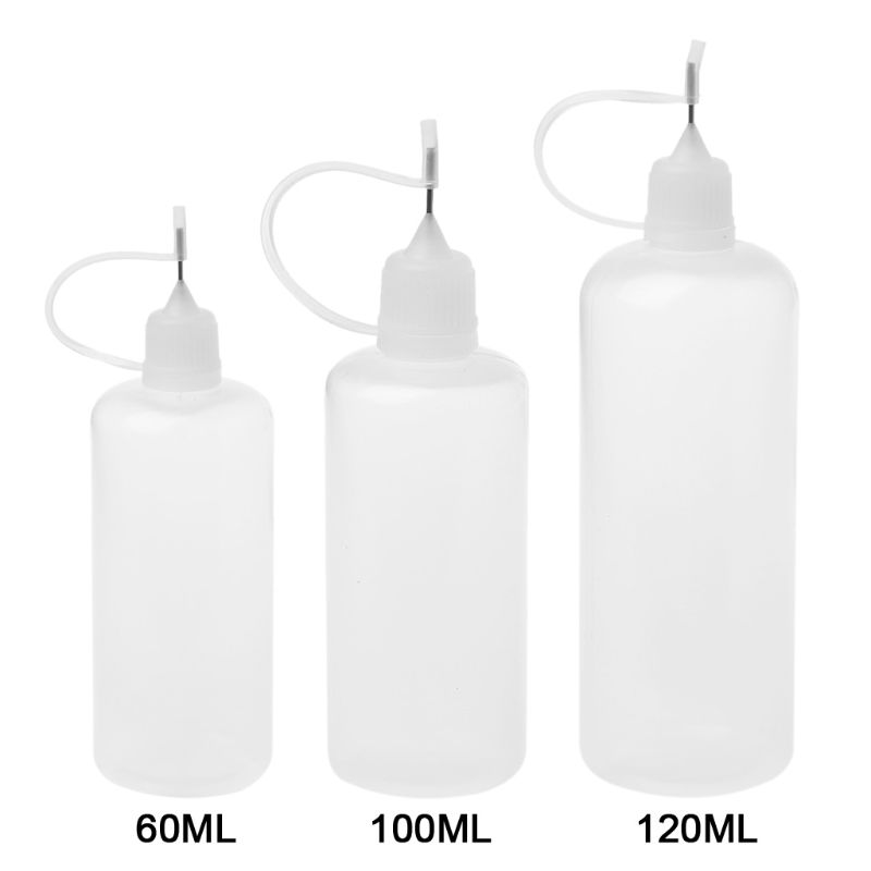 60/100/120 Ml Empty Plastic Squeeze Liquid Dropper Bottle With Metal Needle For Vape Electronic Cigarette