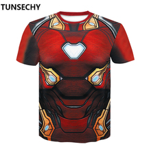 Avengers 3 infinity war iron man clothing fitness compression speed dry marvel short sleeved T-shirt man