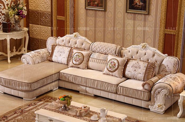 Continental Creative Corner Sofa Fabric Sofa Living Room
