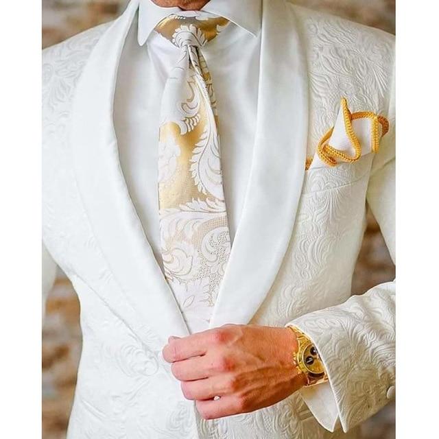 Hot Sale 9 Colors Men Wedding Suits 2020 Slim Fit Groom Tuxedos Groomsman Blazer Suits For Men 2 Piece (Jacket+Pants)