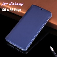 Тонкий кошелек-Кобура, кожаный чехол, флип-чехол, держатель для карт, сумка для samsung Galaxy S6 G920/S6 Edge G925, 5,1 дюймов