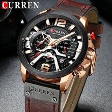CURREN reloj deportivo para hombre, cronógrafo Masculino, de cuarzo, resistente al agua, 8329