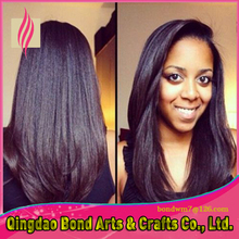 2015 New Glueless Full lace Human Hair Wigs For Black Women Silky Straight  Brazilian Virgin Hair Lace Front Wig Natural Color